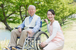 Asian Caregiver and Senior